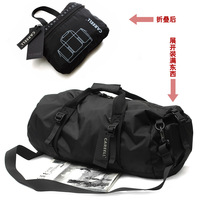 New Nylon Waterproof MenTravel Bags Casual Sports Travel Bag Luggage Portable Cylinder Basketball Bag Male Bucket Bag Folding
