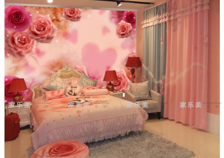 Endearment beauty mural wedding house bedroom bed wall Bedroom wall designs in pakistan