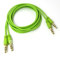 5pcs/lot Variety colors 1M / 3.3Ft Audio 3.5mm Male to Male MP3 Stereo Earphone Extension Cable