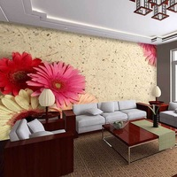 African daisy exquisite decorative pattern mural background wallpaper customized mural