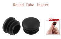 Chair Table Legs 22mm Diameter Plastic Cap Round Ribbed Tube Insert 20pcs