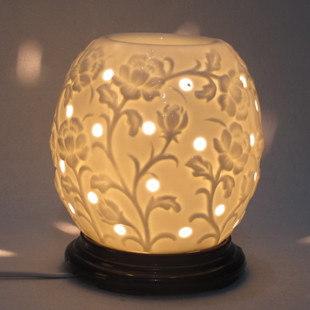 Ceramic aromatherapy lamp with base plate plug in aromatherapy furnace oil lamp aroma lamp