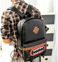 2013 Fashion New Boys / Girls Hot Preppy Style Rivet couple ipad Backpack Bag schoolbag in Stock