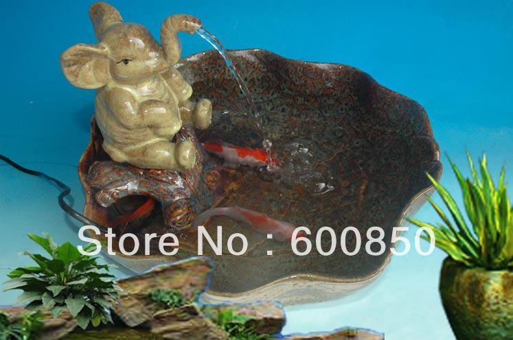 Elephant ceramic water fountain tabletop fountain table fountain