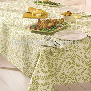 Free Shipping! Poly/Cotton Dobby Printed Home And Restaurant Dining Table Cloth/ Table Napkins