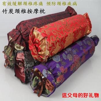 Bamboo massage neck pillow cervical pillow radiation-resistant bamboo charcoal pillow Large candy pillow