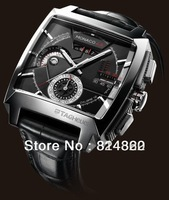 2013 NEW luxury men mechanical watches automatic morgan black case black dial mens dress watches