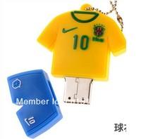 Cartoon BRAZIL Football suit model USB 2.0 Full 8GB Memory Stick Flash pen Drive