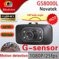 Free Shipping Blackview Car Camera DVR GS8000L 1920*1080P 140 degrees wide Angle 2.7inch LCD G-Sensor HDMI