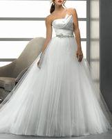 Vestidos De Novia Fashionable Up Sashes Vestido De Festa Longo Romantic Wedding Dress New Fashion Back Net With Dresses Ko02012