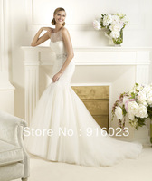 Luxury wedding dress2013 advanced customization foreign trade of the original single elegant fashion lace trailing dress wedding