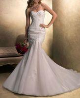 2014 Sale Romantic Vestido Vestidos De Novia New Style Sweetheart Beading Mermaid Train Hand Made Royal Wedding Dresses Ko02014