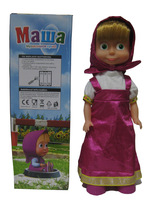 Free Shipping Russian Language Cartoon Anime Masha And Bear Singing And Dancing Masha Musical Doll Children Best Gift