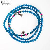 Wedding gift jewelry natural aquamarine prabhutaratna bracelets bracelet garnet turquoise 925 silver