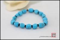 8 7 5mm natural porcelain blue mine ore turquoise with shaped bracelets Sleeping Beauty women's nunatak bracelet