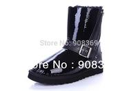 int'l Brand 2014 Genuine Leather,sheepskin Wool lining Australia Blaise Patent waterproof 1003266 warm snow boot for women