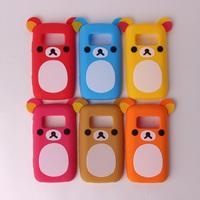 1pcs/lot For nokia   c6-01 cartoon bear protective case mobile phone case c6-01 phone case Free Shipping Drop Shipping