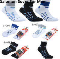 Free Shipping 2013 New Arrived Salomon Socks Men's Runing Socks Breathable Socks 4 Colors High Quality