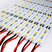 5630 smd led hard led strip jewelry mobile counter aluminum plate with lights 12v 60 beads white 72 lamp plate