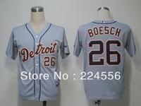 Cheap MLB Detroit Tigers 26 Brennan Boesch Cool Base Baseball Jersey Authentic On Field Jersey Free Shipping