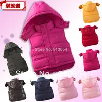 Free shipping Retail new 2013 autumn winter jacket baby clothing kids down & parkas vest children hoodies warm down waistcoat