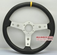 SALE!Wholesale!! !14 inches Sparco Leather Steering Wheel, racing car steering wheel Aluminum alloy,ACC1608