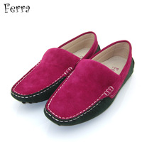 shoes woman Genuine leather flat casual shoes Moccasins flat heel elevator plus size shoes