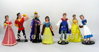 7x Princess Action Figures Prince Toys PVC 10CM Best Gifts and Collections Free Shipping