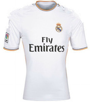 Thai version of the quality of white short-sleeved football clothing / 13/14 the latest real Madrid home training