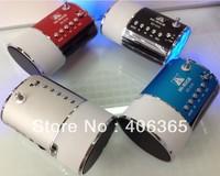 Freeshipping 10pcs Original Hi-Rice portable MUsic Speaker SD-506 TF&USB+FM+LED display+AUX+REC+blue light