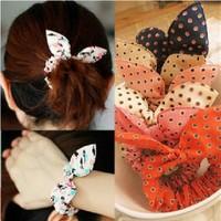 E6103 rabbit ears headband tousheng bow hair accessory rubber band hair accessory hair accessory hair rope