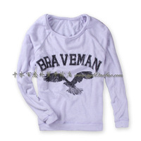 Autumn women's o-neck pullover sweatshirt letter print loose casual outerwear