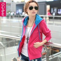 2013 spring and autumn clothing plus size all-match cardigan casual with a hood sweatshirt short jacket