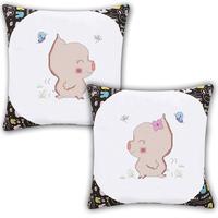 Shote cross stitch pillow a pair of lovers cartoon pillow cover kaozhen print