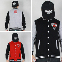 Gangsta Bulls Baseball Jacket Sweatshirts Hoody Lovers Men Women Sport Outdoor outerwear hip hop hiphop blue/rad/black/gray