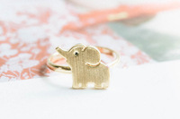 wholesale 10pce/lot mix color Free Shipping 2014 New Ring Elephant Silver -Plated Rose Gold Party Women Ring Finger Ring