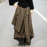 S0077 Custom made plus size S to 6XL  2014 New Women's warm maxi irregular wool Long skirt