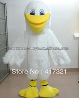 sm 266 furry white adult Pelican Mascot costume