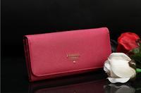 Ladies wallet ladies long cross grain original leather wallet P's wallet