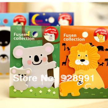 kawaii koala animal parent child sticky notes memo pad circus scrapbook stickers book for kids korean stationery wholesale lot