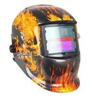 New Auto Darkening Mig Tig Solar Welding Grinding Helmet Flame Skull Welder Mask djo Free shipping