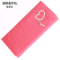 2013 new Fashion Ms. Long Sweet Heart Pendants wallet women wallet