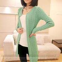Autumn small twist women sweater medium-long long-sleeve sweater 2013 loose cardigan