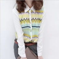 Lily2013 chiffon shirt female slim long-sleeve top casual outerwear