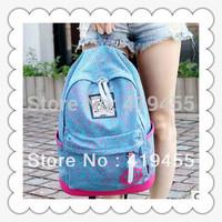 Retail backpacks korean women 2014 fashion high quality school student leisure canvas satchel 8 colors size:31x13x42cm