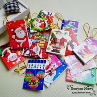 Lanyard christmas greeting card/ belt sling Christmas small card /wishing cards for hanging  50pcs/lot free shipping