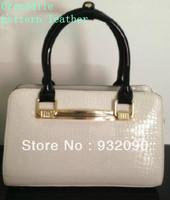 Counters authentic handbags crocodile pattern shoulder bag