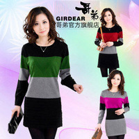 2013 autumn women's sweater loose plus size basic shirt sweater one-piece dress