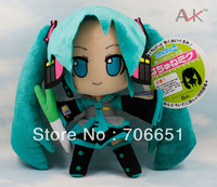 Hatsune Miku VOCALOID series of Japanese anime plush toys dolls 24CM smile Hatsune Miku 10pcs/lot
