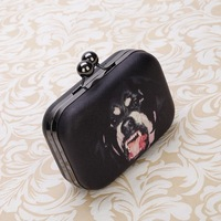 New Arrival Women's PU Leather High Quality Fashion Designer Box Hasp Handbag Clutch Shoulder Bag Gifts Free Shipping Engry Dog